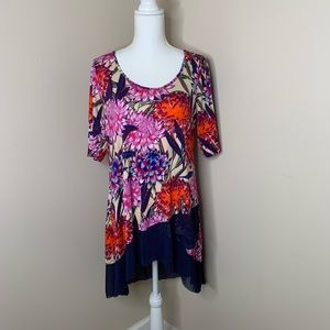 3/$20 CUPIO Floral Long Blouse